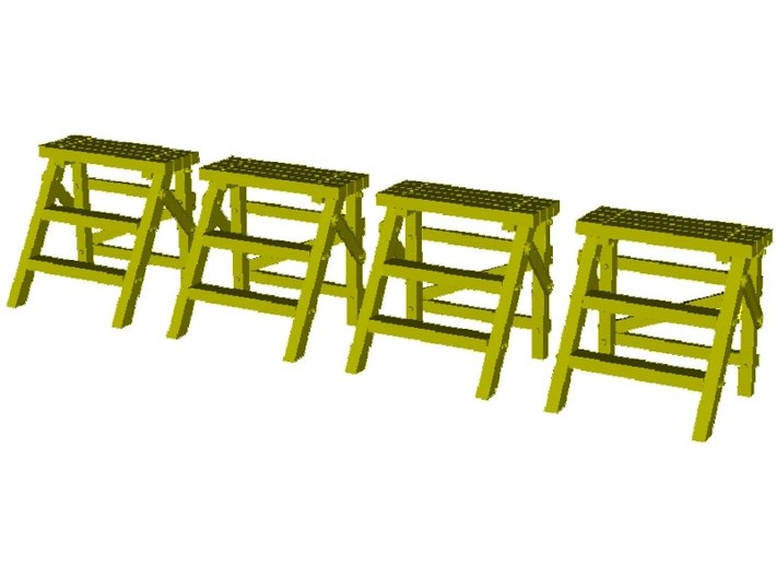 1/18 scale WWII Luftwaffe maintenance ladders x 4 3d printed