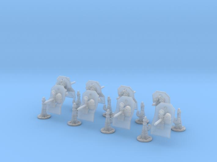 1/144 US Navy M2 Air Cool Pedestal Mount Set 3d printed