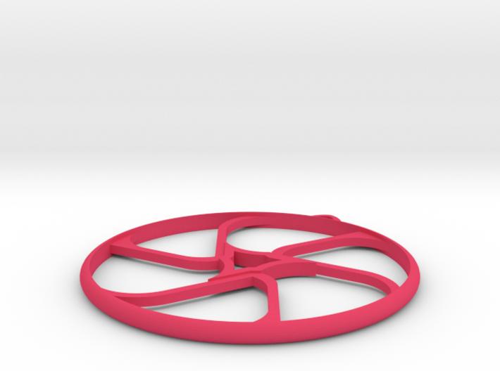 Triad Earring/Pendant 3d printed