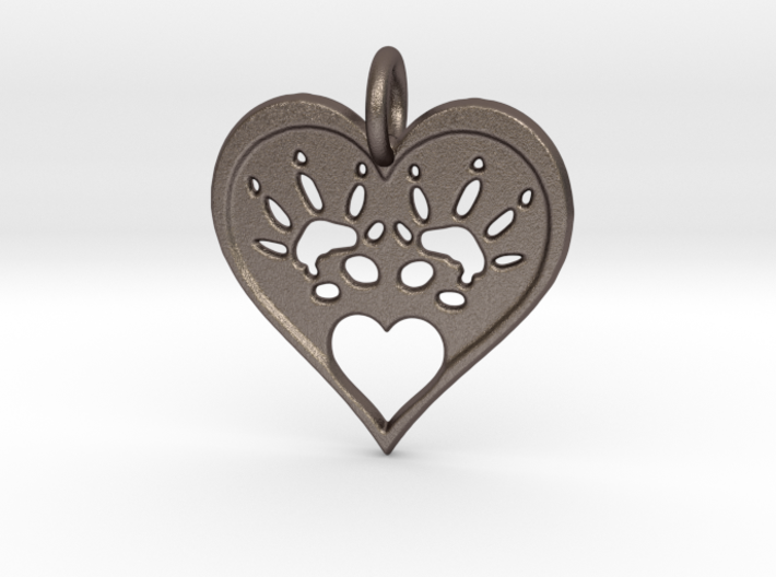 Rat Foot Print Heart 3d printed