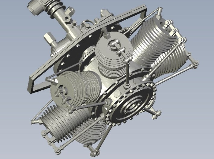 1/32 scale Gnome 7 Omega rotary engine x 1 3d printed