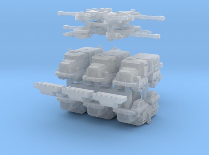 6mm Muskox MRAP APCs (Quad Tracked) (6pcs) 3d printed