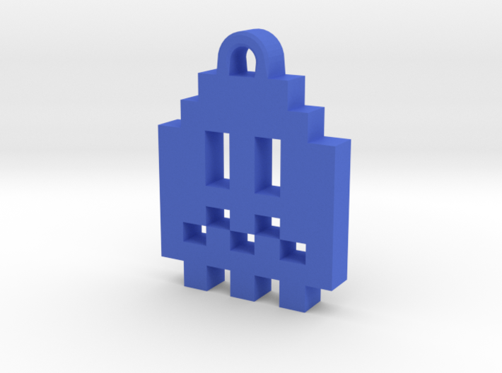 Pac Man Ghost 8-bit Earring 1 (afraid) 3d printed