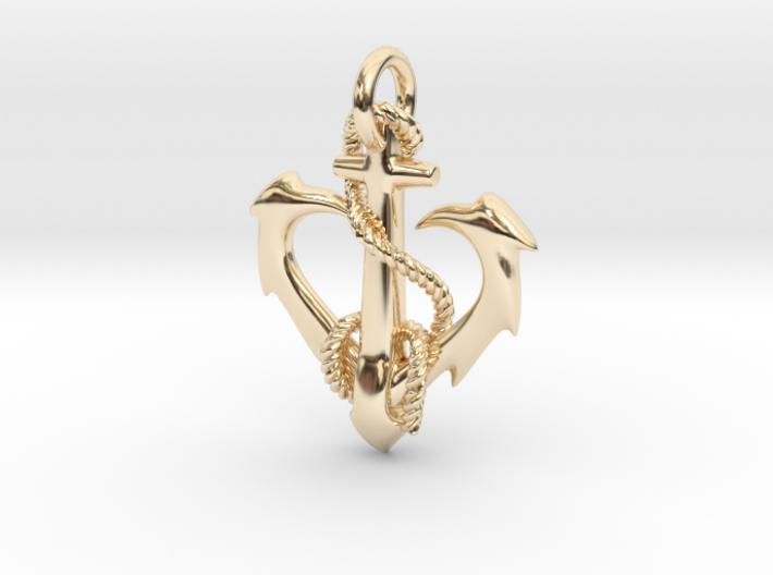 anchor heart 3d printed