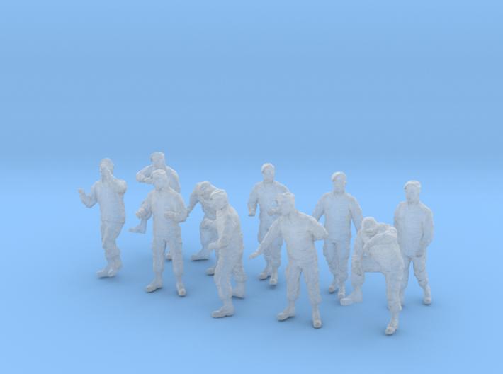 1-43 Army Modern Uniforms BERETS Set 4-2 3d printed