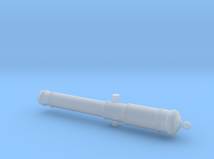 18th Century 6# Cannon Naval Carriage Only 1/24 3d printed