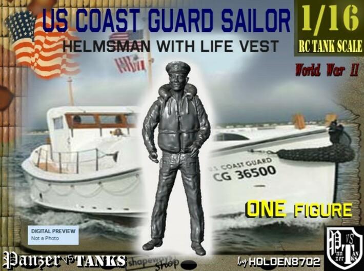 1-16 USCG Helmsman 1.stl 3d printed