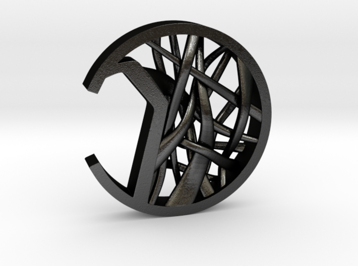 Coin Styled Bottle Opener Design (woven Patterned) 3d printed