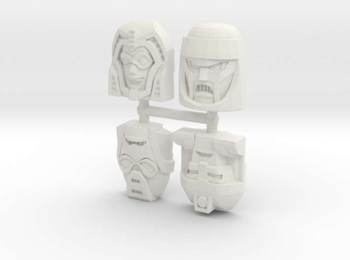 Gobots Renegade Faces Four Pack 3d printed