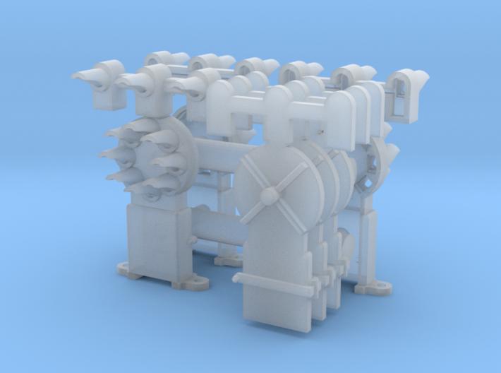 Dwarf B&O CPL w/Upper Spd Lamps(3) - HO 87:1 Scale 3d printed