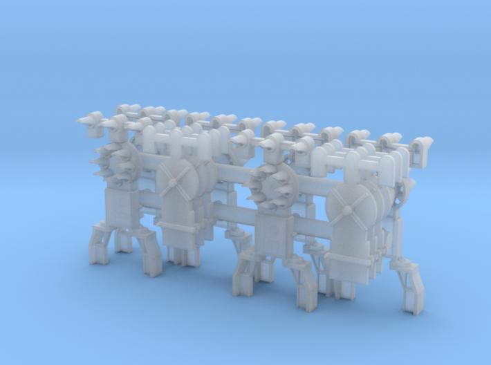 Dwarf B&O CPL-UpperSpdLamps-GndBrkt(6) - HO 87:1 S 3d printed