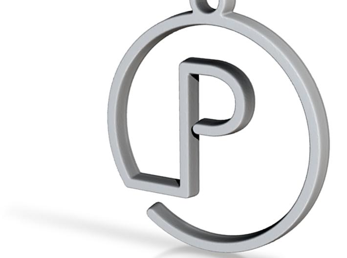 P Monogram Pendant 3d printed