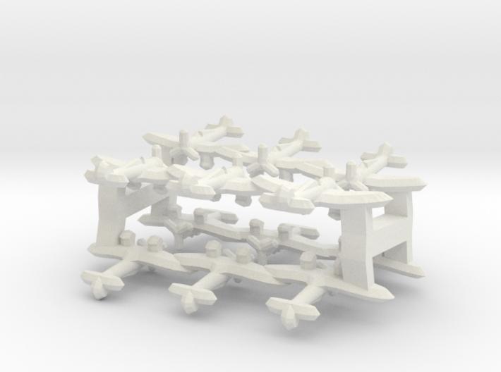 A5M Claude (Triplet) 1/900 x4 3d printed