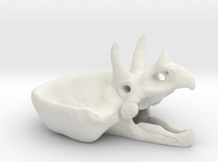 Triceratops Head skull flower pot 3d printed