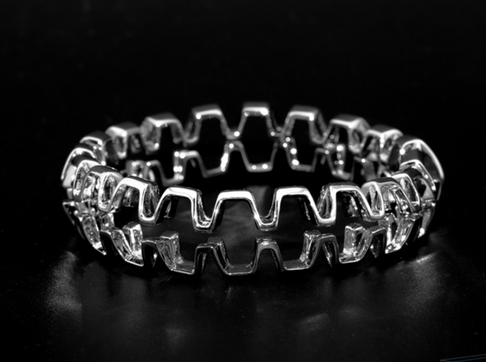 Honeyfull Duo Bracelet, Medium Size, 65mm 3d printed