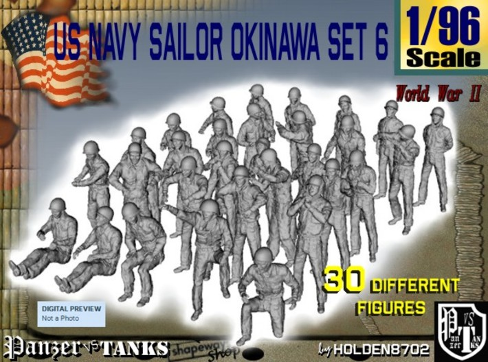 1/96 US Navy Okinawa Set 6 3d printed