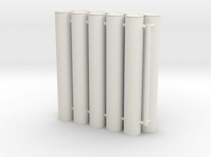 1/16 105mm Ammo in Transport Cases (x10) 3d printed