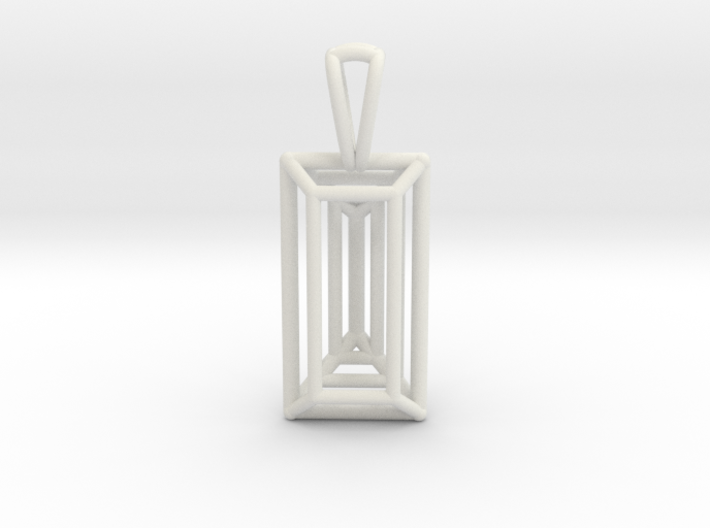 3D Printed Diamond Baugette Cut Pendant (Small) 3d printed