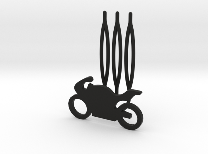 Motorbike decorative hair comb - small size 3d printed