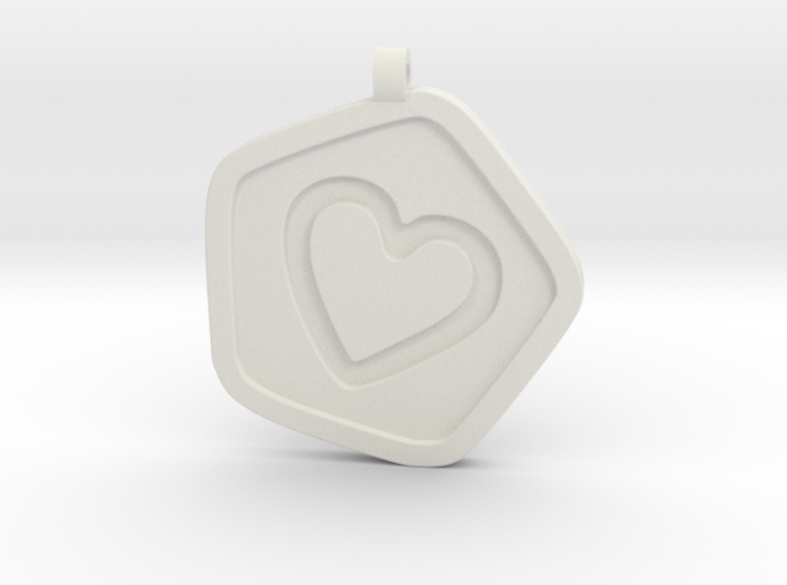 3D Printed Bond What You Love Pendant 3d printed