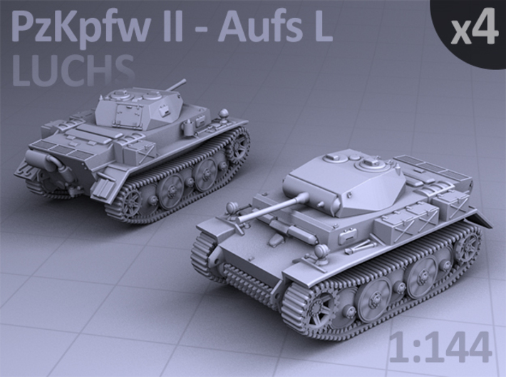 PzKpfw II ausf L - LUCHS (4 pack) 3d printed