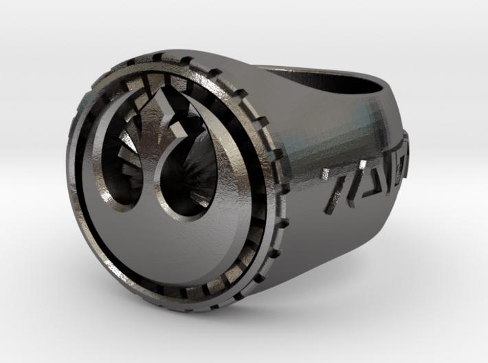 Rebel Ring 26mm 3d printed