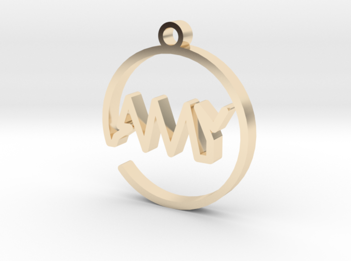 AMY First Name Pendant 3d printed