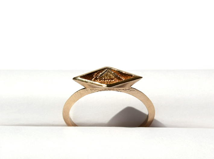 Paper Boat Ring 3d printed