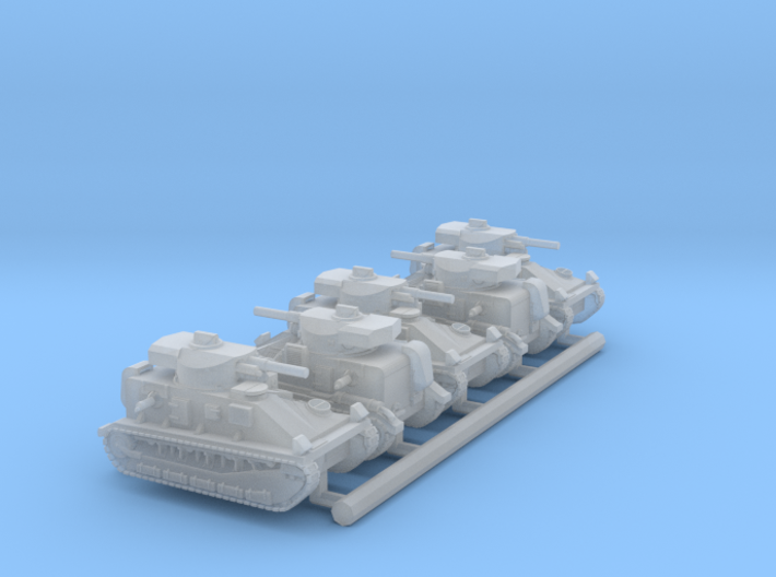Vickers Medium MkII* (6mm, 5up) 3d printed