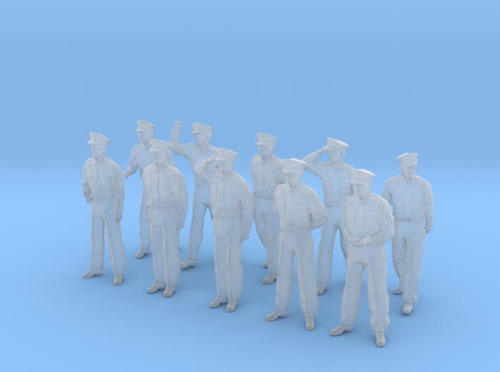 1-56 USN Officers Set1-1 3d printed