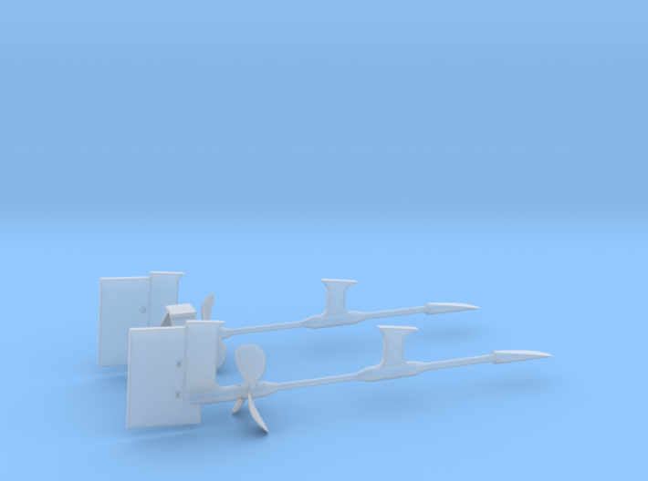 1/125 Props SET supports And Rudders 3d printed