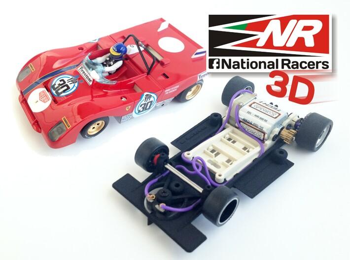3D chassis - SRC Ferrari 312 PB V1.0 (SW) 3d printed SRC Ferrari 312 PB