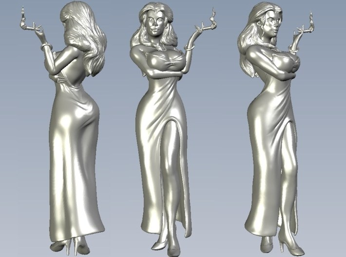 1/15 scale sexy smoking diva figure 3d printed