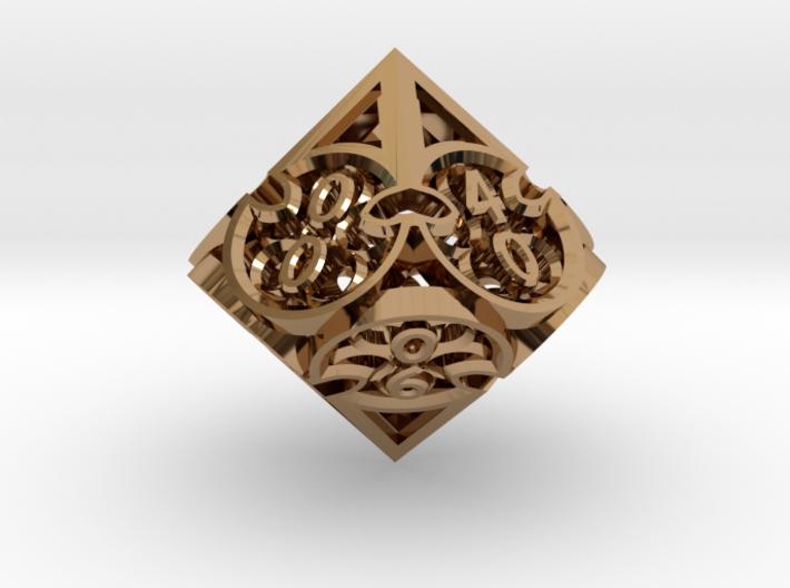 Gothic Rosette Die10 Decader 3d printed