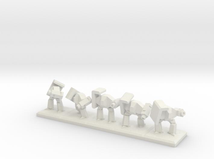 TA ARM Rocko Squad - 1cm tall 3d printed