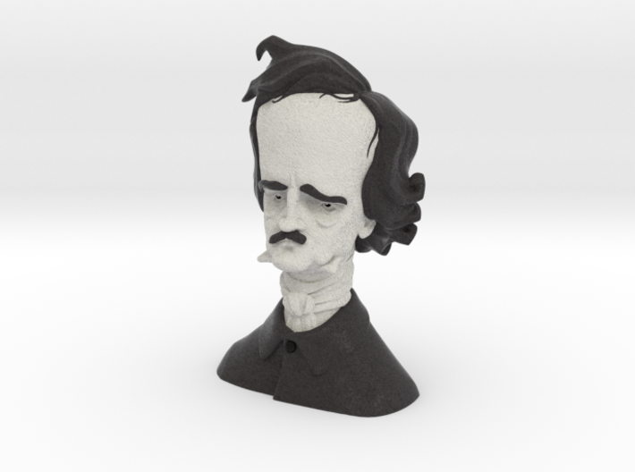 Edgar Allan Poe Caricature 3d printed