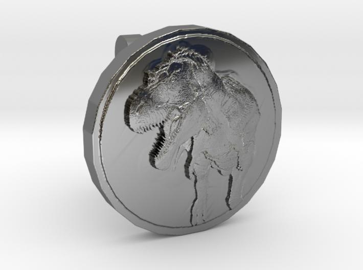 T-rex Cufflink 3d printed