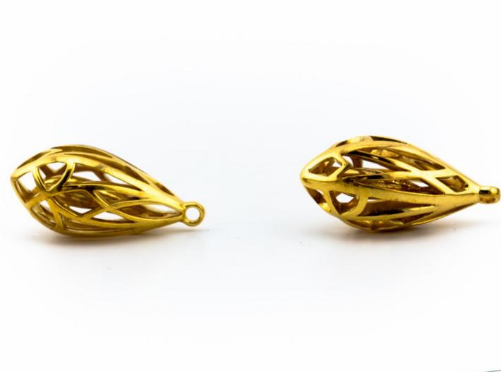Teardrop shaped earrings 3d printed