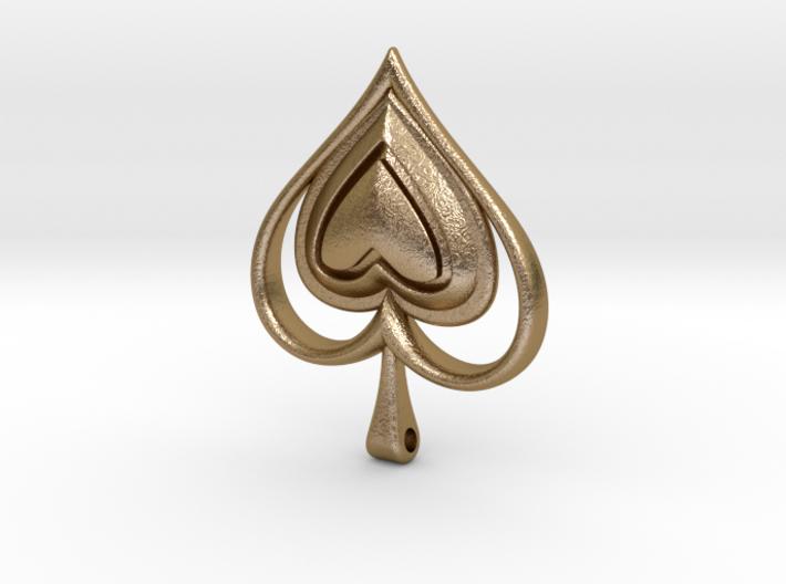 Spade Heart Pendant 3d printed
