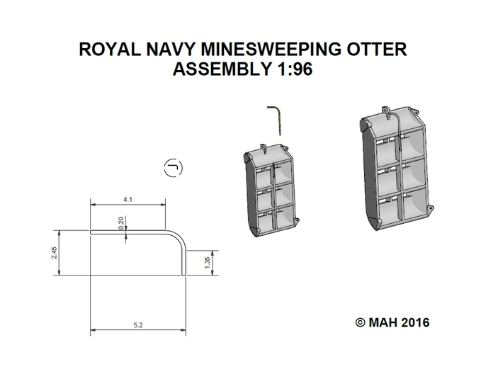 Royal Navy Otter Minesweeper 1/96 3d printed