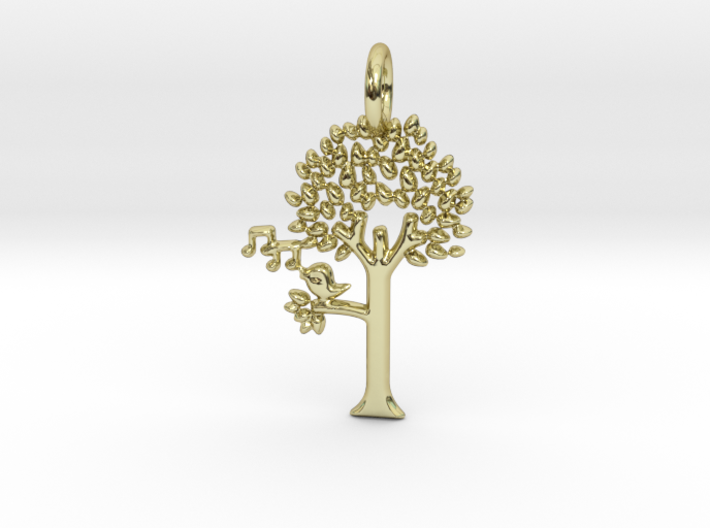 Tree No.2 Pendant 3d printed