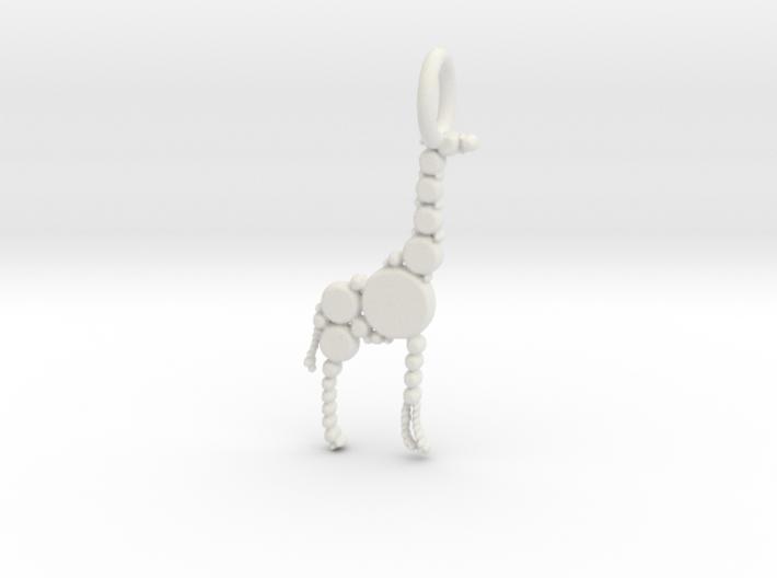 Giraffe Pendant 3d printed