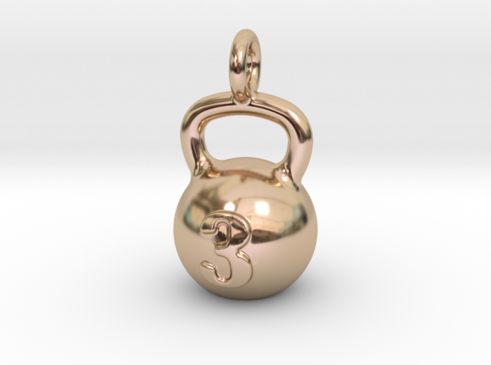 Kettlebell Tiny Little Pendant 3d printed