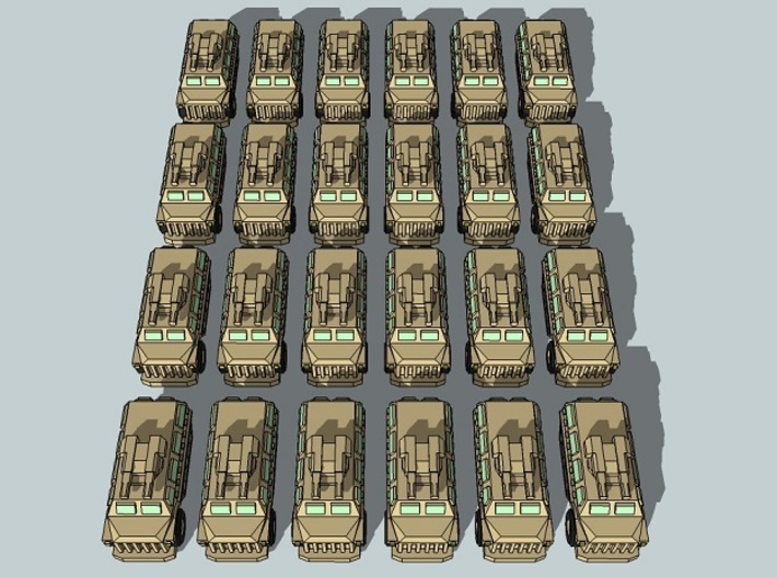 """Team Scimitar"" 3mm Sci-Fi Tanks & IFVs (48pcs) 3d printed"