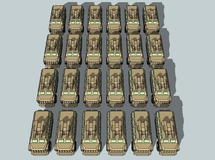 """Team Scimitar"" 3mm Sci-Fi Tanks & IFVs (48pcs) 3d printed"