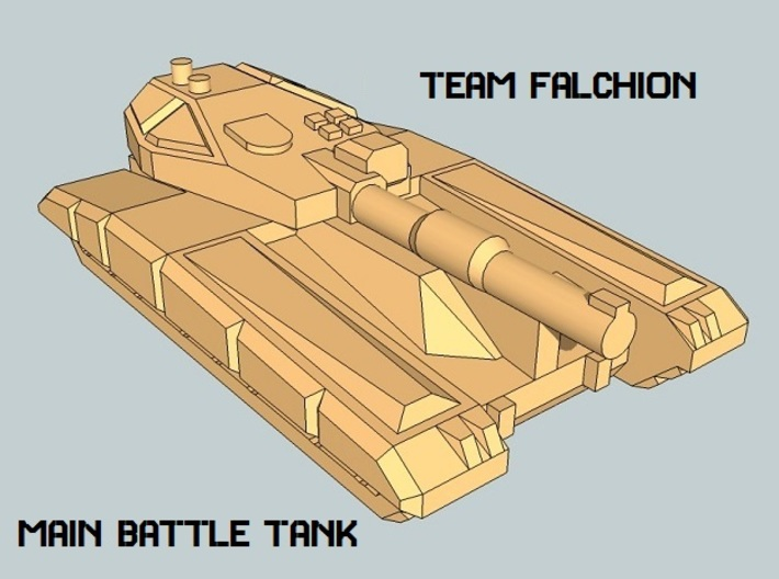 """Team Falchion"" 3mm Sci-Fi Tracked Tanks (24 pcs) 3d printed"