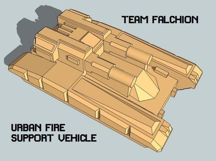 """Team Falchion"" 3mm Tracked Fire Support (12pcs) 3d printed"