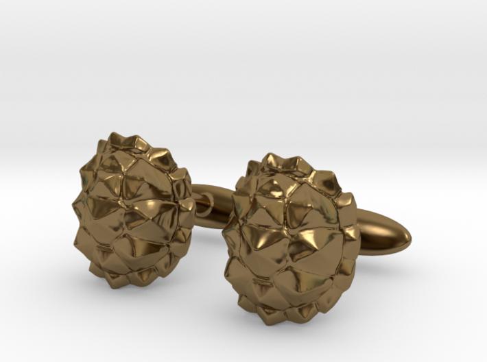 Tortoisecufflinks 3d printed