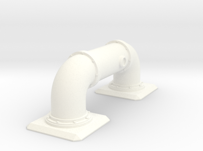 Pipe Barricade Square 3d printed