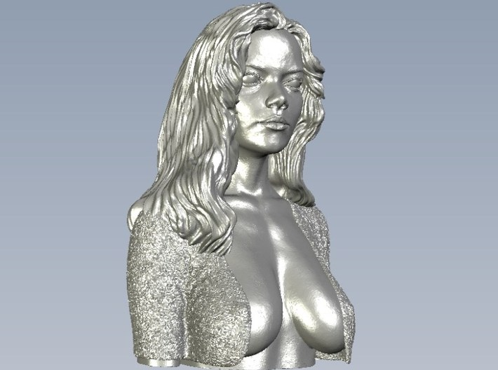 1/9 scale sexy top model bust 3d printed